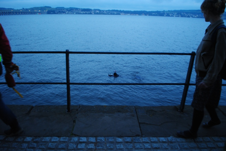 Dundee Artists in Residence, Dundee Live - Lindsay Brown, 'Tay River Drift' (evening - edd tide - live performance), 2011