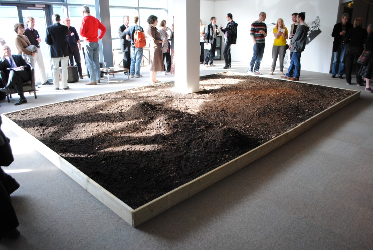 Earth Breath - a two hour performance buried in soil, part of the opening night for 'Soil', 2011
