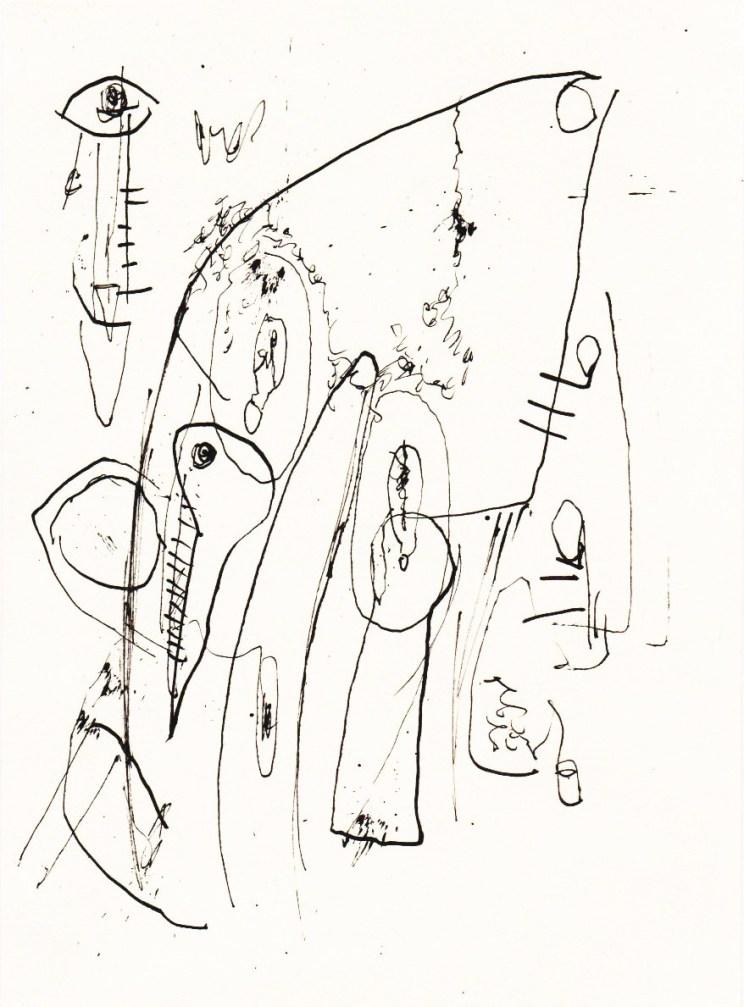 Untitled ink drawing - Jonathan Baxter