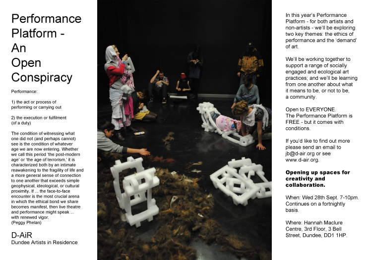 Dundee Artists in Residence, Performance Platform, 2011